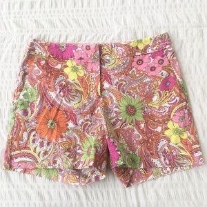 Talbots Floral & Paisley Print Shorts 6
